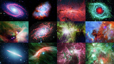 Science Collection - NASAs Spitzer 12th Anniversary Space Calendar by Nasa
