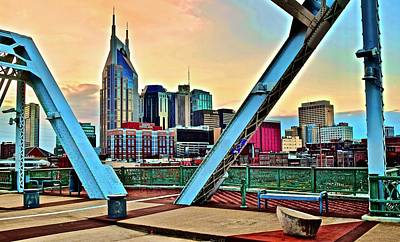 World Forgotten Rights Managed Images - Nashville Aglow Royalty-Free Image by Frozen in Time Fine Art Photography