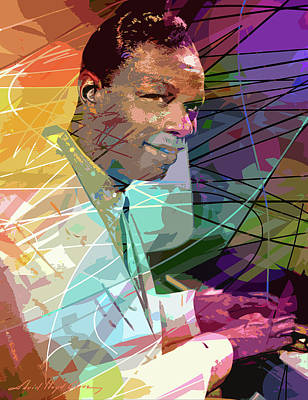 Comic Character Paintings - Nat King Cole 1956 by David Lloyd Glover
