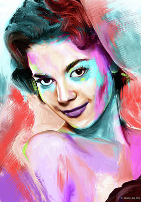 Royalty-Free and Rights-Managed Images - Natalie Wood painting by Stars on Art