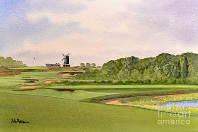 Sports Paintings - National Golf Links Of America by Bill Holkham