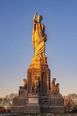 Photograph - National Monument To The Forefathers by Myer Bornstein
