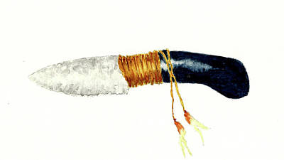 Thomas Kinkade - Native American Stone Knife by Michael Vigliotti