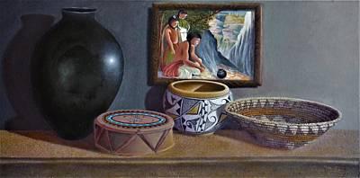 Painting - Native American Treasures nr 15 by Philipp Merillat
