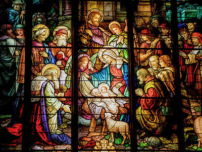 Hollywood Style - Nativity Stained Glass by Teresa Wilson