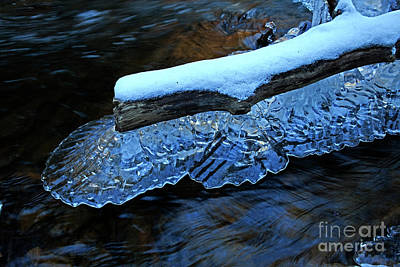 Achieving - Natural Scalloped Ice Sculpture by John Stephens