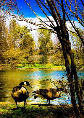 Thomas Kinkade Rights Managed Images - Nature Royalty-Free Image by Shirley Garcia
