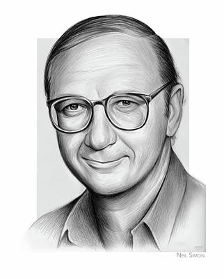 Drawings Royalty Free Images - Neil Simon pencil Royalty-Free Image by Greg Joens