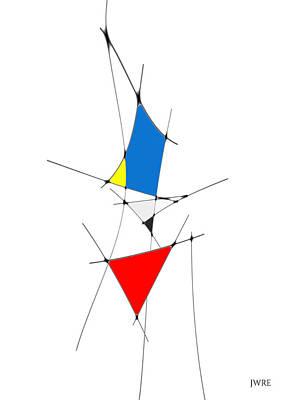Billiard Balls - neoplasticism 11 III by John Emmett