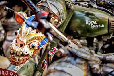 Studio Grafika Vintage Posters - Nepali Enfield MC ride by Murray Rudd