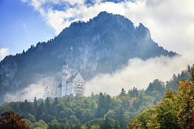 Lovely Lavender - Neuschwanstein Castle in morning fog by Alexey Stiop