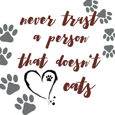 From The Kitchen - Never Trust a Person that Doesnt Like Cats by Brandi Fitzgerald