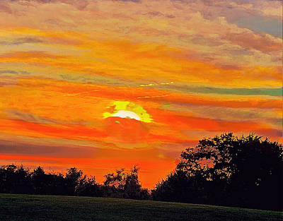 Namaste With Pixels Royalty Free Images - New Cut Sunset Royalty-Free Image by Joseph Thaler