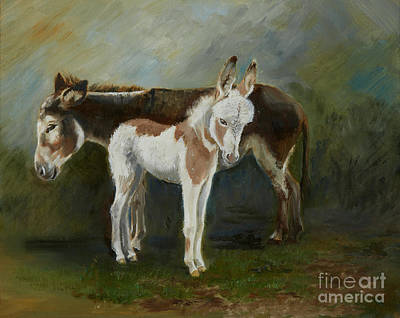 Painting - New Forest Donkeys by Kathryn Dalziel