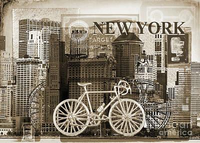 Transportation Digital Art - New York - Monochrome by Anthony Ellis