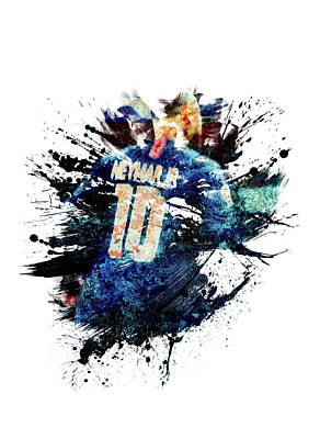 Sports Royalty-Free and Rights-Managed Images - Neymar by All Sport Art