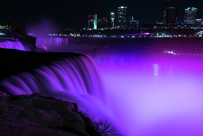 Ethereal - Niagara in Purple by Mike Griffiths