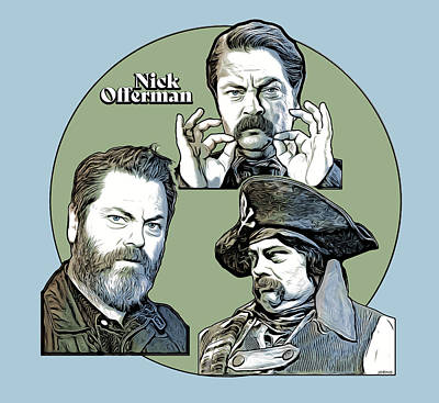 Royalty-Free and Rights-Managed Images - Nick Offerman - Digital by Greg Joens