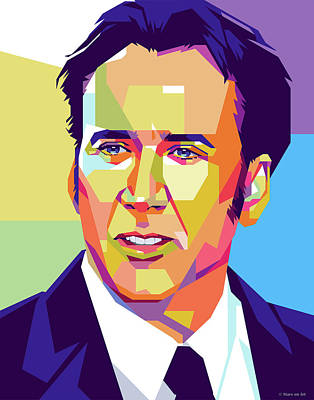 Royalty-Free and Rights-Managed Images - Nicolas Cage portrait by Stars on Art