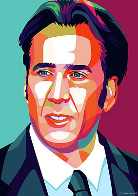 Pop Art Rights Managed Images - Nicolas Cage Royalty-Free Image by Stars on Art