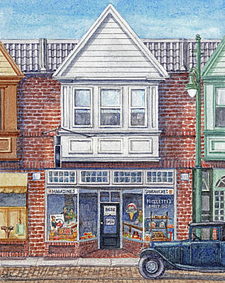 Painting - Nicoletti's Sweet Shop by Janet Zeh