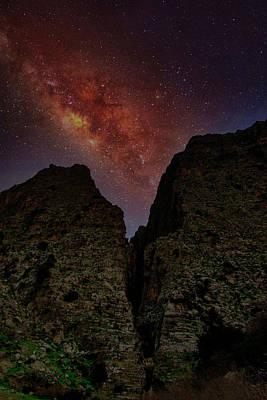 Photograph - Night at the gorge by Manolis Tsantakis