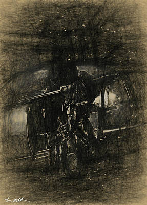 Vintage Baseball Players - Night Stalker Art by Tommy Anderson