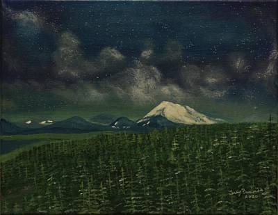 Painting - Night View by Terry Frederick