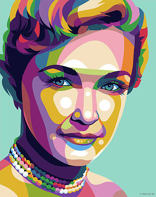 Royalty-Free and Rights-Managed Images - Nina Foch by Stars on Art