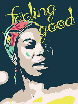 Whats Your Sign - Nina Simone_18x24inches by Greatom London