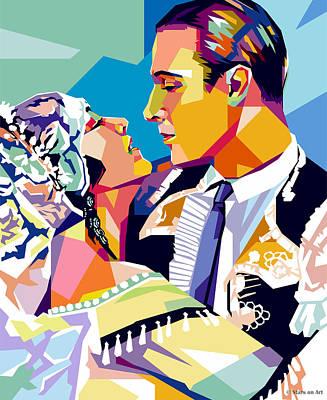 Mixed Media Royalty Free Images - Nita Naldi and Rudolph Valentino Royalty-Free Image by Stars on Art