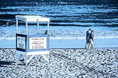Surrealism Royalty-Free and Rights-Managed Images - No Lifeguards On Duty by Surreal Jersey Shore