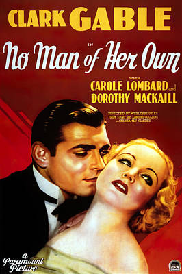 Royalty-Free and Rights-Managed Images - No Man of Her Own, with Clark Gable and Carole Lombard, 1932 by Stars on Art