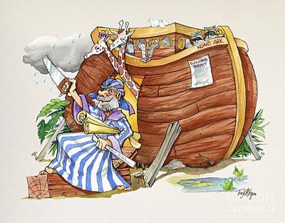Painting - Noah and the arc by Tony W Morgan
