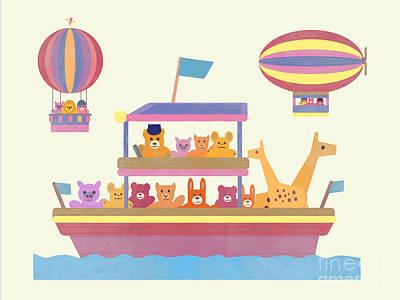Modern Man Music - Noahs Ark with stuffed animals by Joost Hogervorst