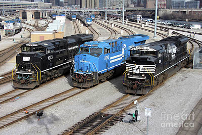 Popstar And Musician Paintings Royalty Free Images - Norfolk Southern Heritage Faces 2 Royalty-Free Image by Sean Graham-White