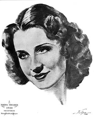Drawings Royalty Free Images - Norma Shearer by Volpe Royalty-Free Image by Stars on Art