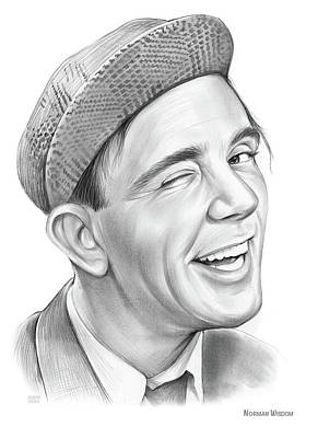 Drawings Royalty Free Images - Norman Wisdom - Pencil Royalty-Free Image by Greg Joens