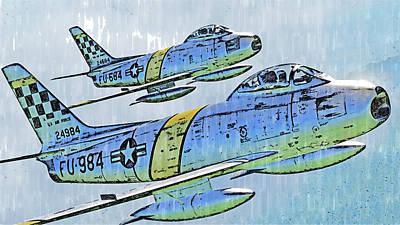 Edward Hopper - North American F-86 Sabre - 01 by AM FineArtPrints