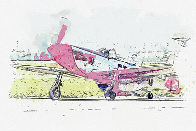 Staff Picks Cortney Herron - North American P-D Mustang NLD or N1D USAAF Antique - Classic Aircraft - Classic War Birds - Planes  by Celestial Images