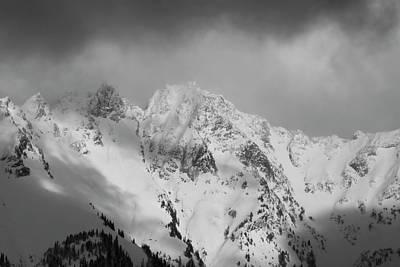 Modern Kitchen - North Cascades Mountains in Winter by Yulia Kazansky