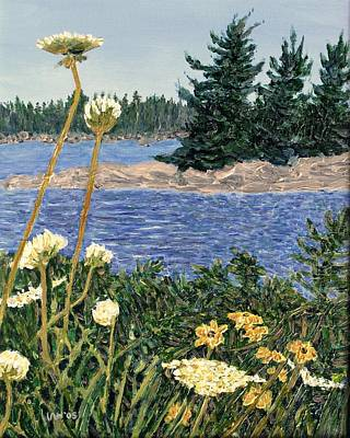 Painting Royalty Free Images - North Channel Lake Huron Royalty-Free Image by Ian  MacDonald