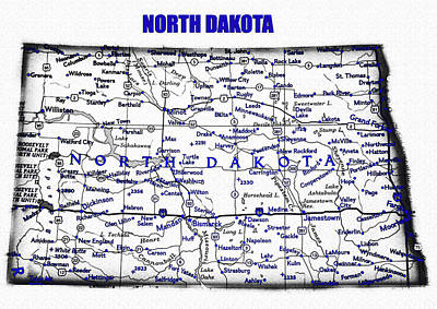 Science Collection - North Dakota blue print work by David Lee Thompson