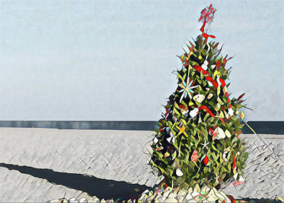 Surrealism Royalty-Free and Rights-Managed Images - North Street Christmas Tree by Surreal Jersey Shore