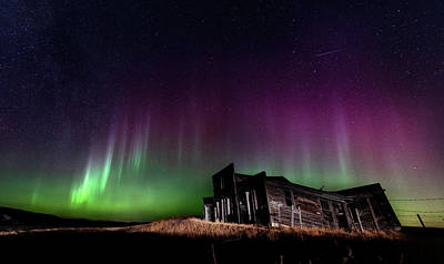 Surrealism Royalty-Free and Rights-Managed Images - Northern Lights Aurora by Mark Duffy