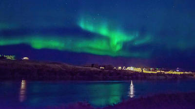 Clouds Rights Managed Images - Northern Lights Over Hella Iceland Royalty-Free Image by Rebecca Herranen