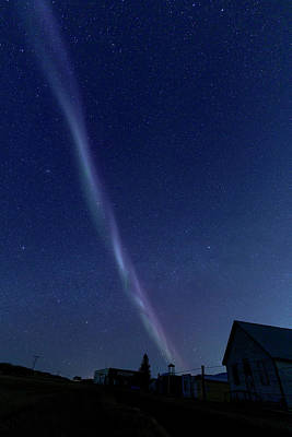 Surrealism Royalty-Free and Rights-Managed Images - Northern Lights Steve by Mark Duffy