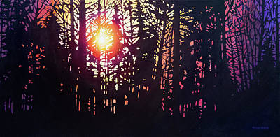Painting - Northern Sunset II by Alison Newth