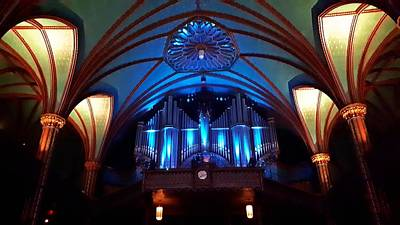 Farm Life Paintings Rob Moline - Notre-Dame Basilica Pipe Organ by Marlin and Laura Hum