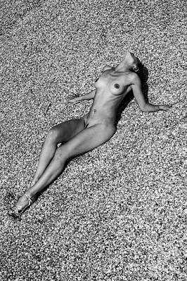 Photograph - Nude on Recycled Beach by Simon Pocklington